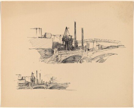 Factory and Bridge Sketches