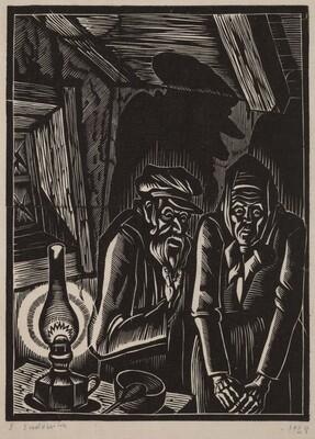 Man and Woman by a Lantern
