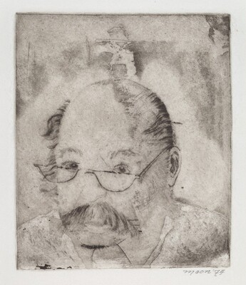 Portrait of a Man with Glasses