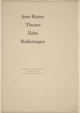 Theater - Zehn Radierungen