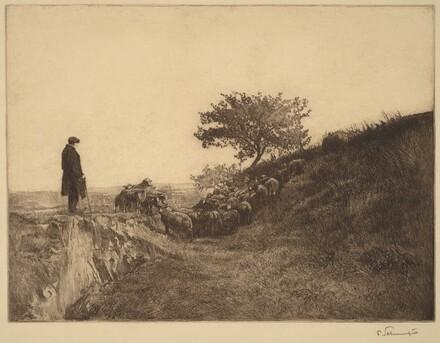 Shepherd with Flock
