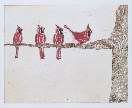 Four Cardinals on a Branch