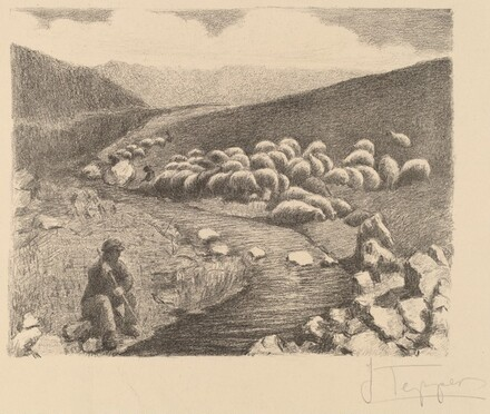 Shepherd and Sheep in a Landscape