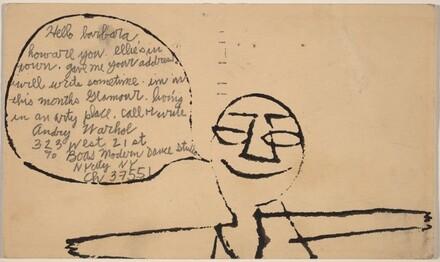 Postcard to Barbara Eisenberg