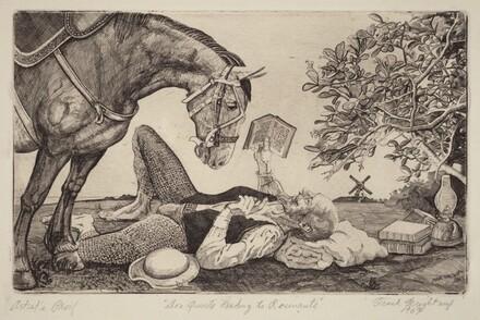 Don Quixote Reading to Rosemante