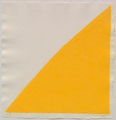 Colored Paper Image XIV (Yellow Curve)