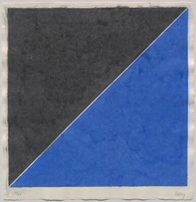 Colored Paper Image XV (Dark Gray and Blue)
