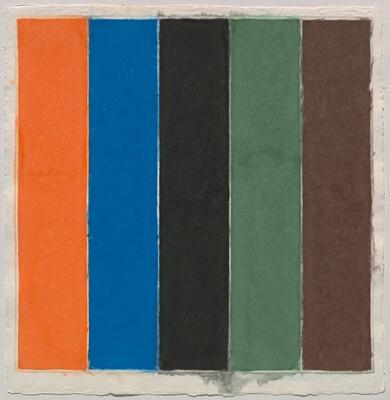 Colored Paper Image XXI (Orange/Blue/Black/Green/Brown)
