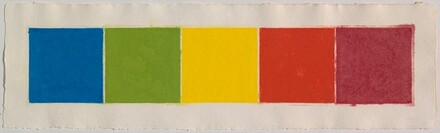 Blue/Green/Yellow/Orange/Red (Colored Paper Image XXII)