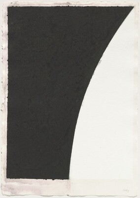 Colored Paper Image VI (White Curve with Black II)