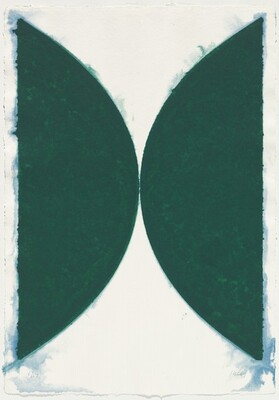 Colored Paper Image II, State (Green Curves)