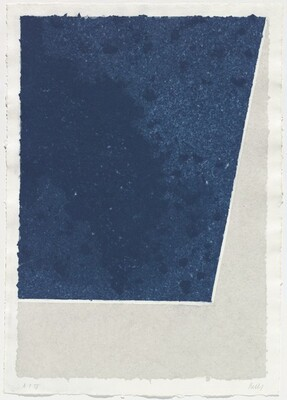 Colored Paper Image X (Blue with Gray)
