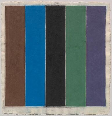 Colored Paper Image XIX (Brown/Blue/Black/Green/Violet)