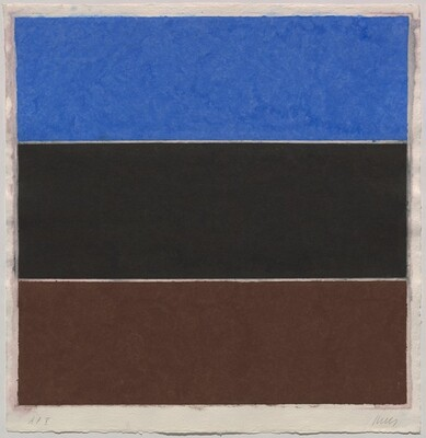 Colored Paper Image XVII (Blue/Black/Brown)