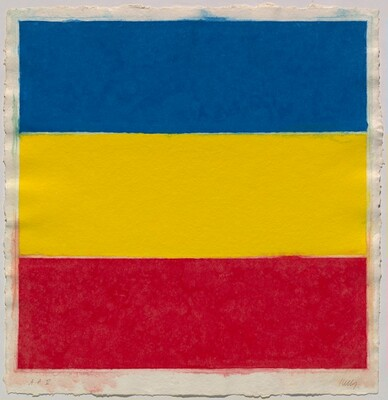 Colored Paper Image XVI (Blue/Yellow/Red)