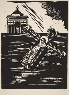 The Crucifixion by Cimabue (Il Crocefisso de Cimabue travolto dalle acque)