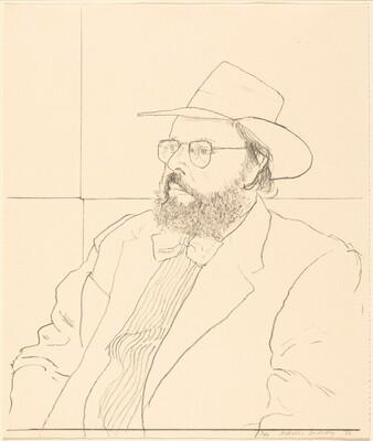 Henry Geldzahler with Hat