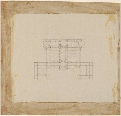 Half-Plan Study for Site on the Axis of the White House