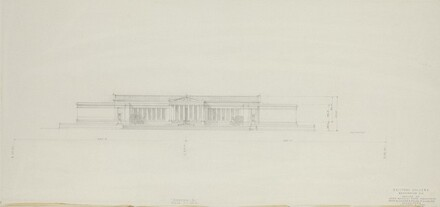 Early Elevation Study on 6th Street Axis