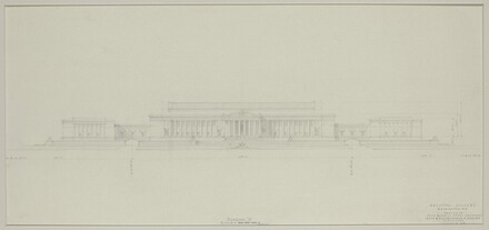 Early Elevation Study: Three Unit Building, 3rd and 7th Street