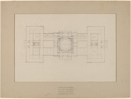 Early Plan Study: One of the First Schemes Showing the Central Dome