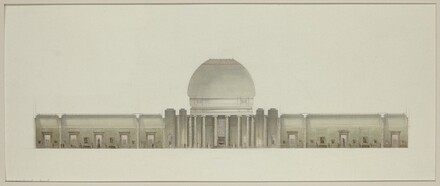 Early Study: Section Through Rotunda and Central Galleries