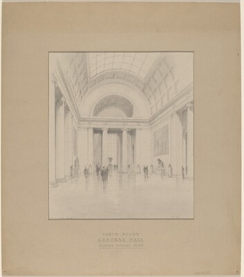 Early Study: Central Hall Scheme without Dome