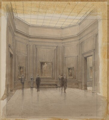 Study of Octagonal Gallery, Wood Panel Treatment