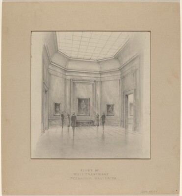 Study of Wall Treatment, Octagonal Galleries