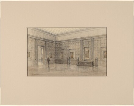Early Study: Exhibition Gallery with Small Panelling