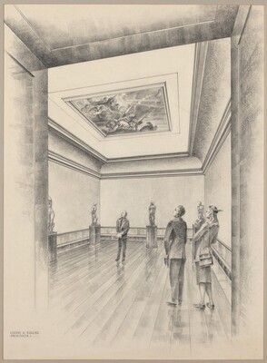 Ceiling Painting in Gallery 25
