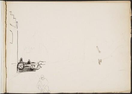 Begonnene Stra enszene mit zerstörtem (Sketch of Street Scene) [p. 1]