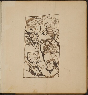 Figuren in Interieur (Figural Group in Interior) [p. 1]