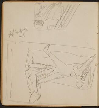 Vergewaltigungs- oder Mordszene und Skizze mit maskiertem Mann (Sketch of a Rape or Murder and Sketch with Masked Man) [p. 4]