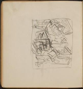 Mehrfigurige Skizze in Interieur (Interior Scene) [p. 32]