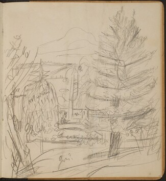 Landschaft mit Berg und Tannen (Landscape with Mountain and Fir Trees) [p. 35]