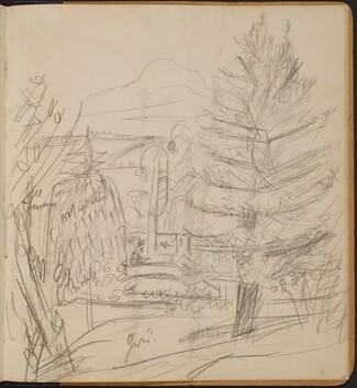 Landschaft mit Berg und Tannen (Landscape with Mountain and Fir Trees) [p. 35]