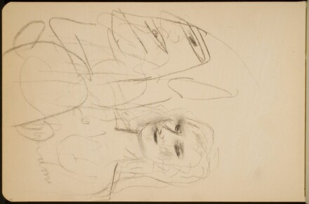 Weibliche Halbfigur und verworfenes groteskes Profil (Female Half Figure and Abandoned Grotesque Profile) [p. 80]
