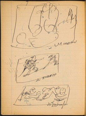 Drei Skizzen mit Bezeichnung (Three Sketches with Inscriptions) [p. 4]