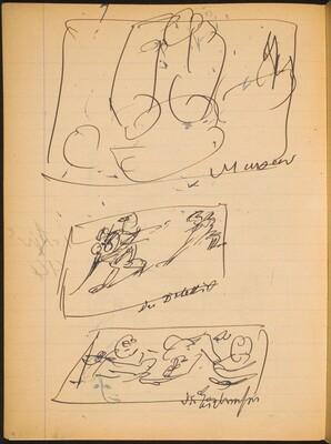 Drei Skizzen mit Bezeichnung (Three Sketches with Inscriptions) [p. 4]