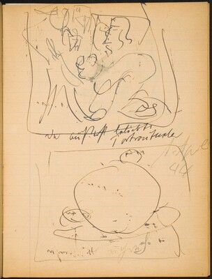 Zwei Skizzen mit Bezeichnung (Two Sketches with Inscriptions) [p. 5]