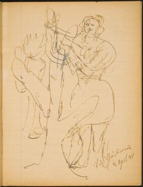 Frau hinter Baum (Woman Behind a Tree) [p. 7]
