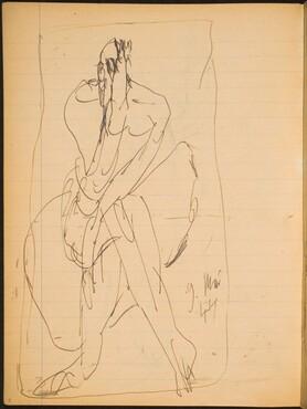 Sitzende Figur mit verdecktem Gesicht (Seated Figure with Covered Face) [p. 8]