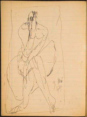 Sitzende Figur mit verdecktem Gesicht (Seated Figure with Covered Face) [p. 8]