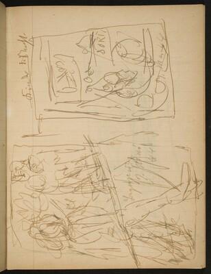 Zwei bezeichnete Skizzen (Two Sketches with Inscriptions) [p. 9]