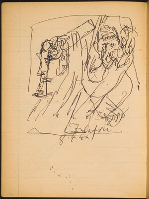 Skizze mit zwei Figuren (Sketch with Two Figures) [p. 12]