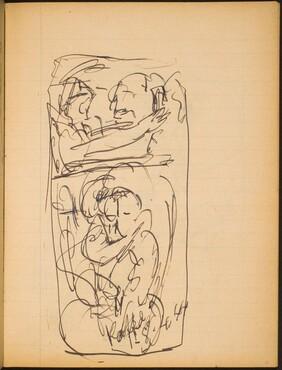 Mehrfigurige Szene (Figural Sketch) [p. 13]