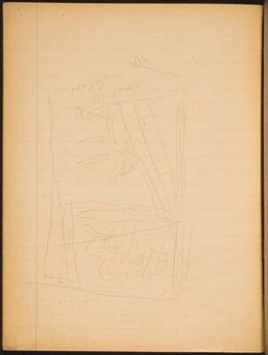 Nicht identifizierte Kompositionsskizze (Not identified compositional Sketch) [p. 22]