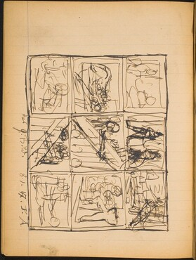 Skizze mit 9 Einzelszenen (Nine Vignettes in a Grid) [p. 32]