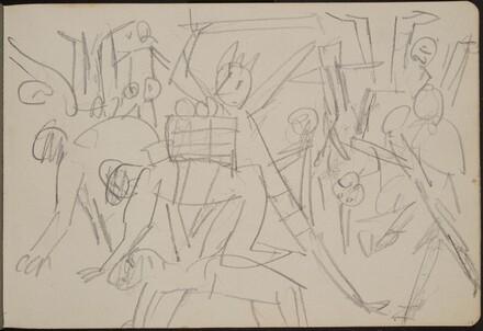 mehrfigurige Skizze mit kriechenden Figuren (Figure Sketch) [p. 17]